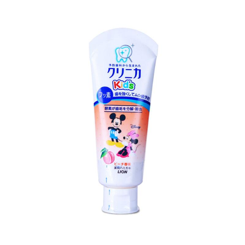 日本狮王米奇米妮儿童牙膏60g水蜜桃味